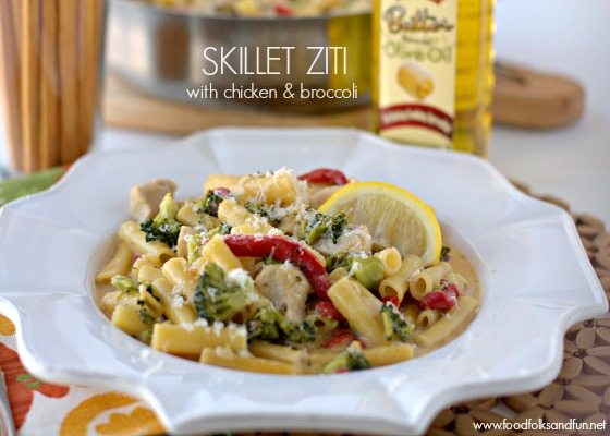 30 Minute Recipe: Skillet Ziti with Chicken & Broccoli