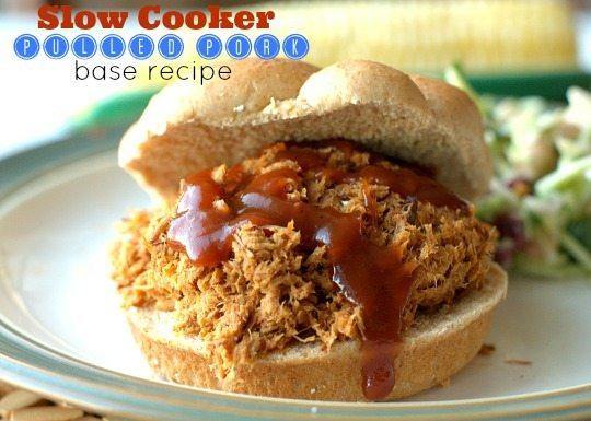 {Slow Cooker} Pulled Pork Base Recipe