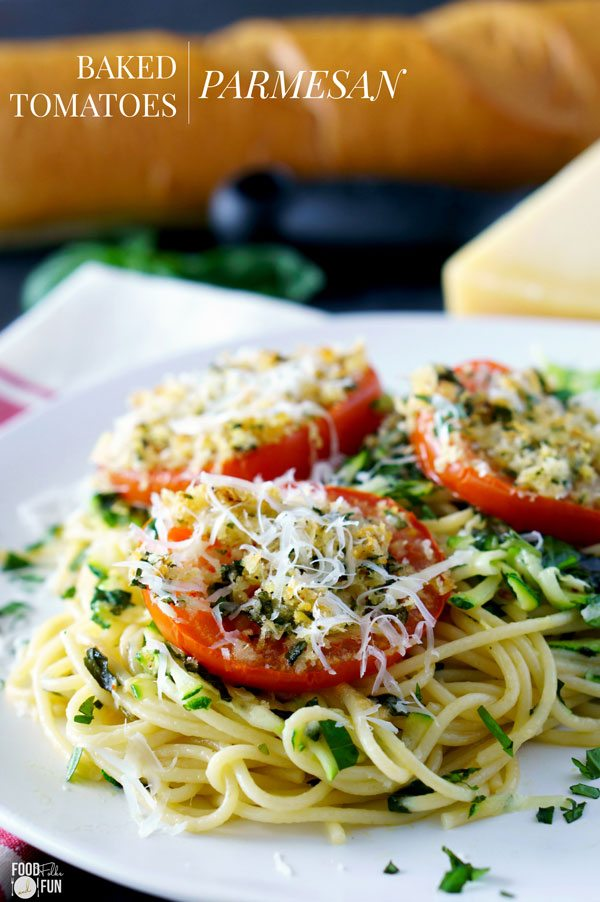 Baked Tomatoes Parmesan for dinner