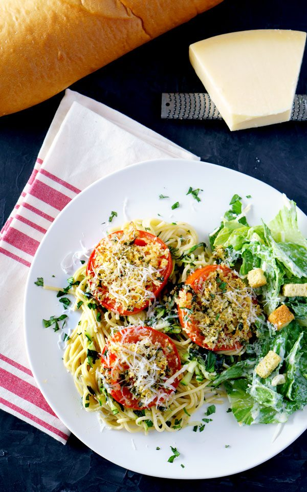 Quick and Easy Tomatoes Parmesan for a weeknight dinner