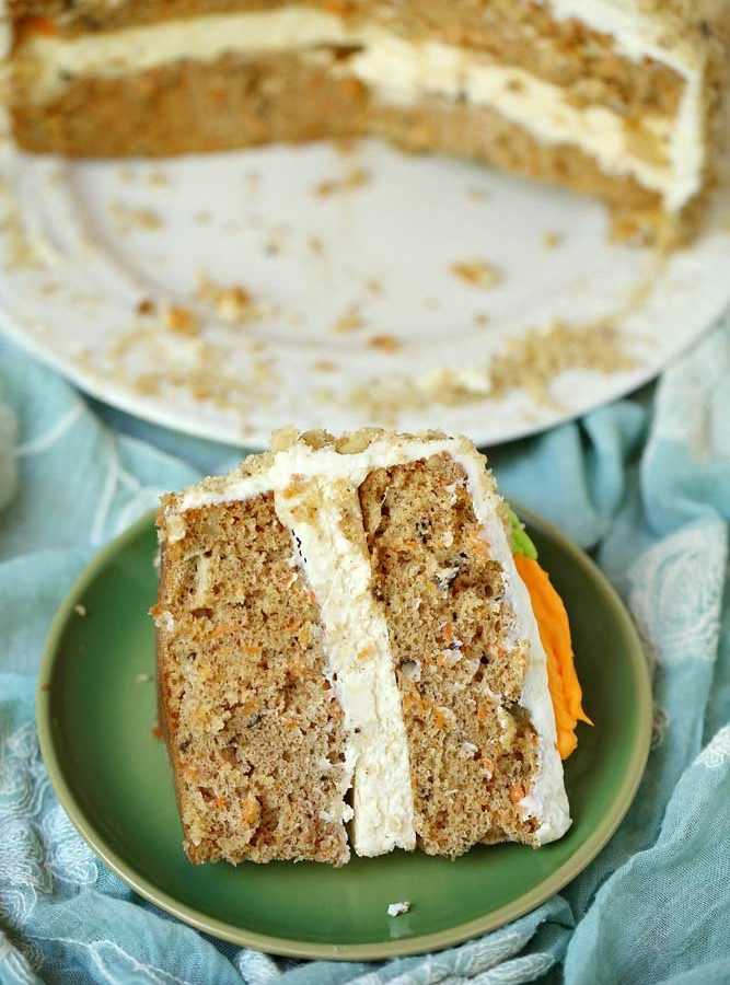 Carrot Cake Cheesecake Cake – a Cheesecake Factory Copycat!