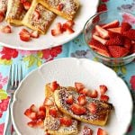 Strawberries and Philly Cream Cheese Blintzes on a plate