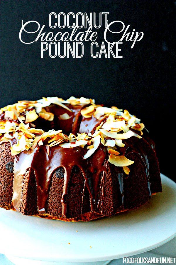 Coconut Chocolate Chip Pound Cake Recipe