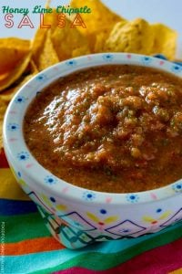 Honey Lime Chipotle Salsa recipe made in just 2 minutes!