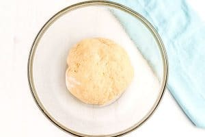 Add the dough to a large greased bowl, cover with plastic, and let rise until doubled in size.
