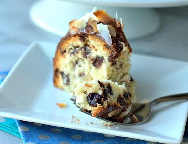 Coconut Chocolate Chip Pound Cake