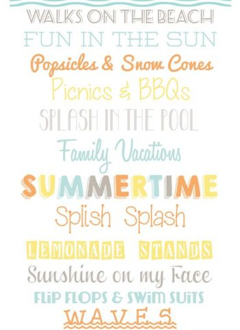 A picturing with text overlay that showcases the differnt fonts. This image is for Pinterest.