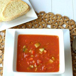 Gazpacho in a bowl