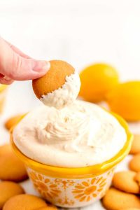 Lemon dip for dessert. Takes just 5 minutes to make.