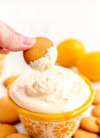 Lemon dip for dessert. Takes just 5 minutes to make.