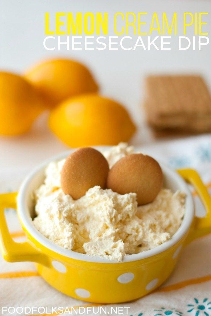 Lemon Cream Pie Cheesecake Dip Recipe
