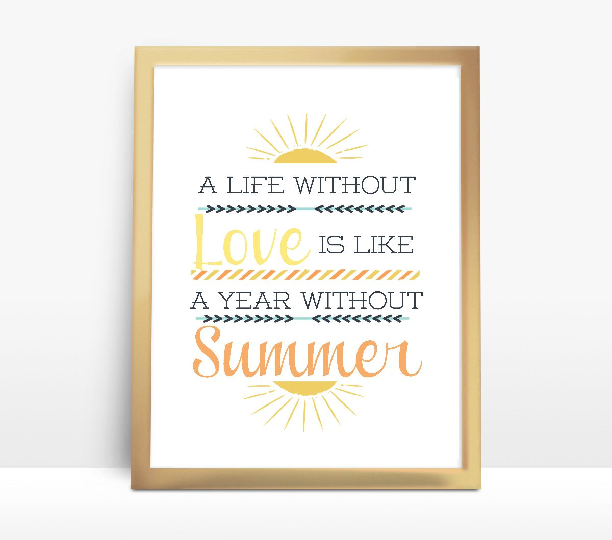 Love and Summer FREE Printable