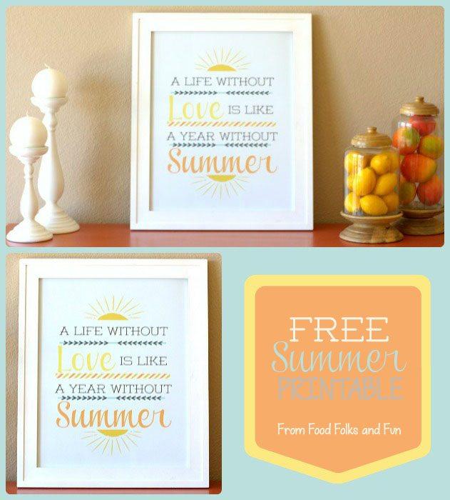FREE Summer Printable