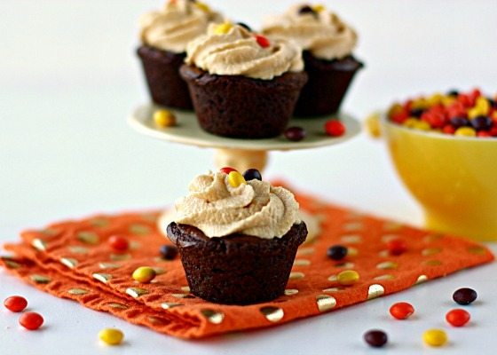 Brownie Bites with Peanut Butter Frosting