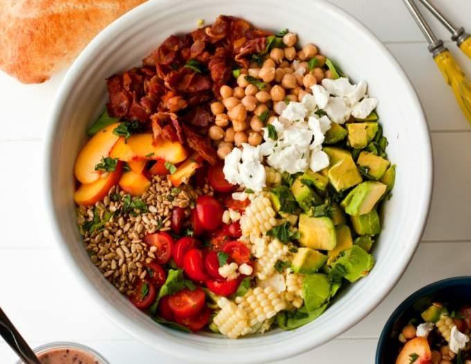 Bountiful Summer Salad & Blueberry Balsamic Dressing Recipe