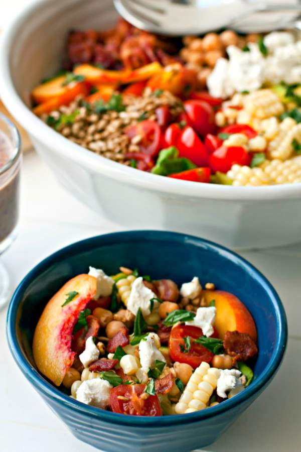 A close-up of a bowl of Bountiful Summer Salad