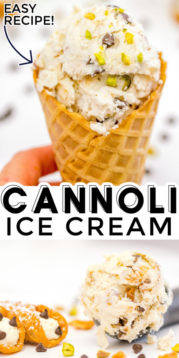 If you love cannoli, then you will love this Cannoli Ice Cream recipe! It's the perfect dessert for any cannoli lover to enjoy year-round.  via @foodfolksandfun