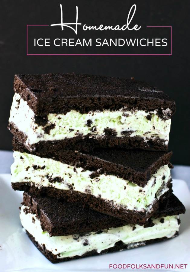 Homemade Ice Cream Sandwiche Recipe