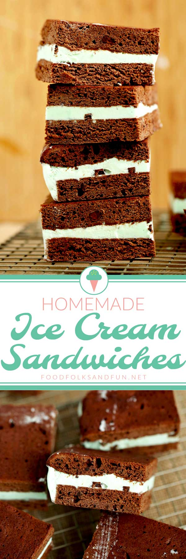 Homemade Ice Cream Sandwiches via @foodfolksandfun