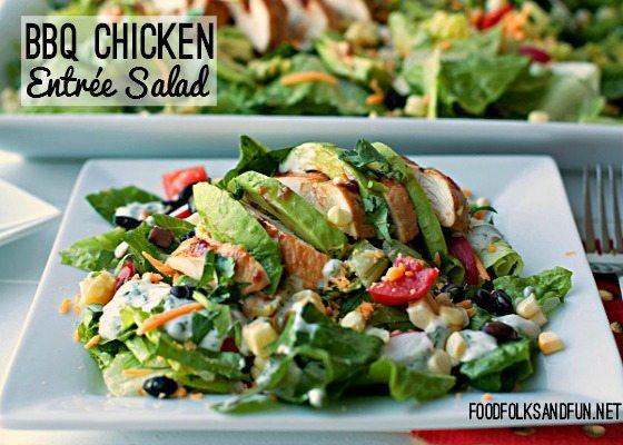 Barbecue Chicken Entrée Salad Recipe