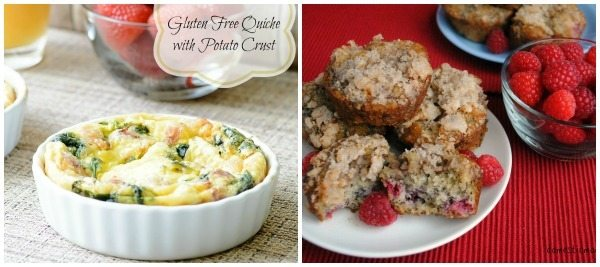two breakfast recipe ideas with text overlay for Pinterest