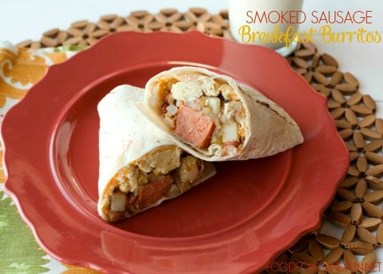 Smoked Sausage Breakfast Burritos