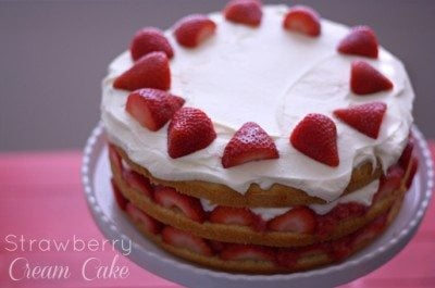 Strawberry Shortcake Roll Up Cake Recipe