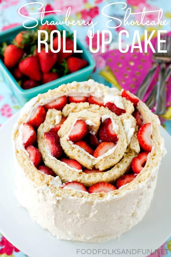 Strawberry Shortcake Roll Up Cake Recipe-Optimized