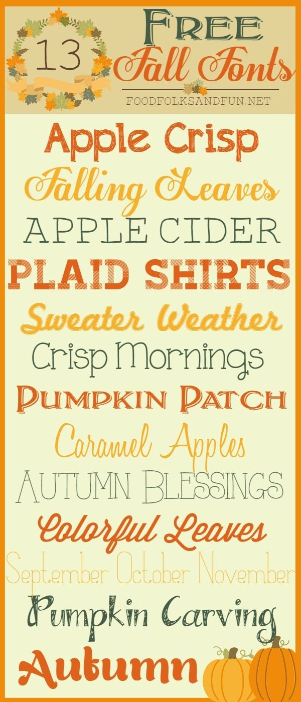 clip art for Free Fall fonts
