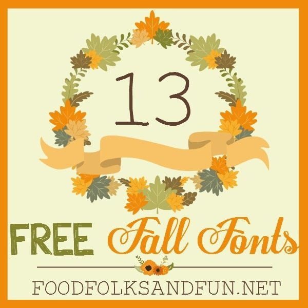 13 FREE Fall Fonts – my favorite cozy finds