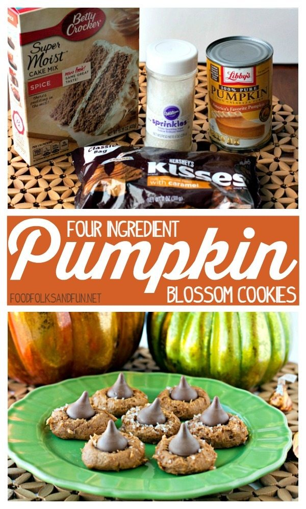 4 ingredient pumpkin blossom cookies