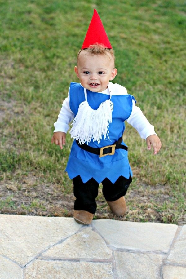 DIY Boy Garden Gnome Costume
