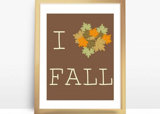 I heart Fall FREE Printable