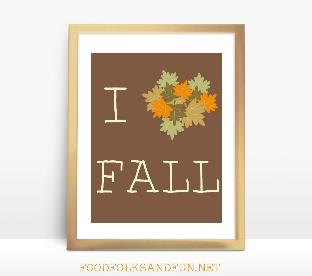I heart Fall FREE Printable