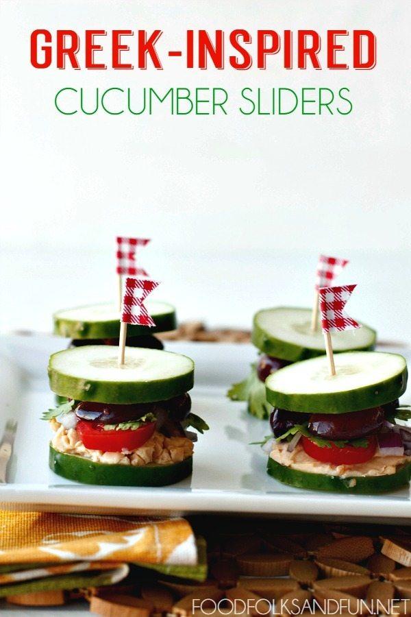 Greek Inspired Cucumber Sliders