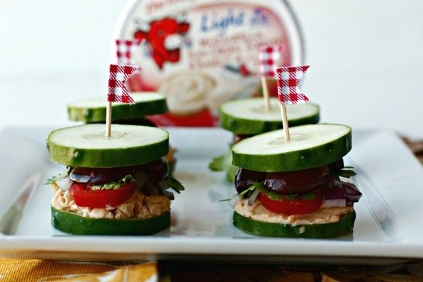 Greek Inspired Cucumber Sliders