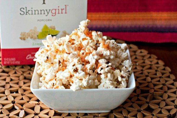 Lime, Chipotle & Parmesan Popcorn #SkinnyGirlSnacks #spon