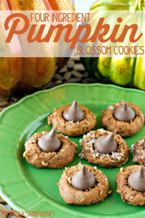Four Ingredient Pumpkin Blossom Cookies