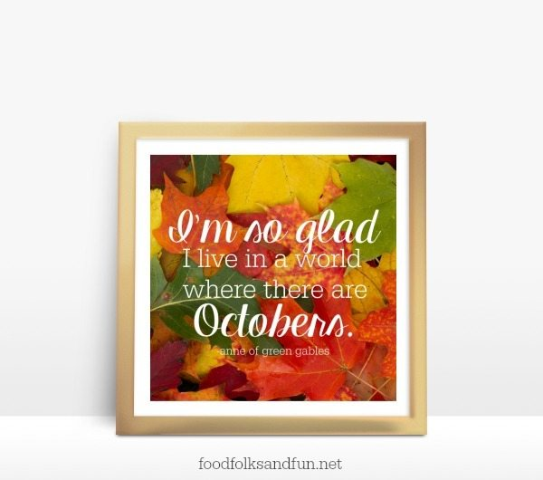 October Printable – a FREE Download!