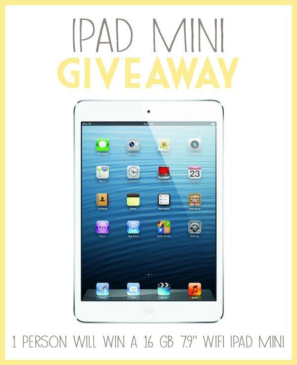 iPad Mini Giveaway – Ends 9/15