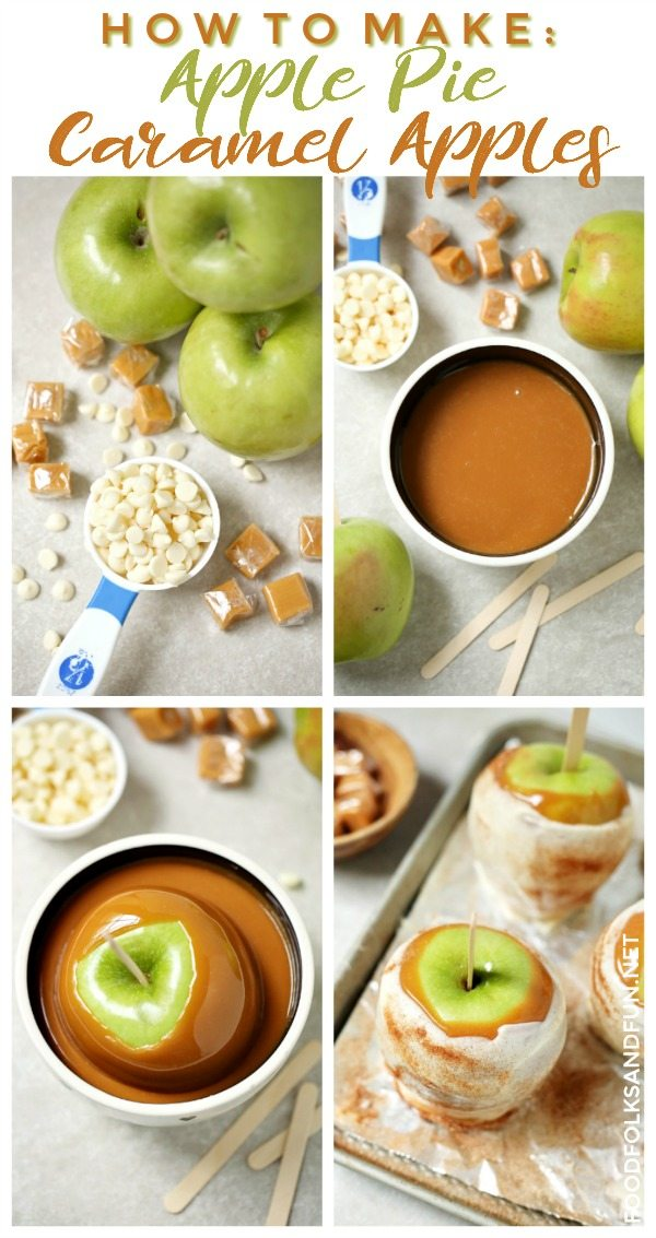 Picture collage of this Caramel Apples Tutorial