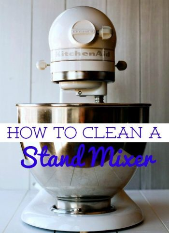 A stand mixer with text overlay for Pinterest