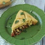 A slice of Tamale Pie on a plate
