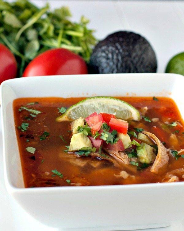 Easy Chipotle Chicken Tortilla Soup