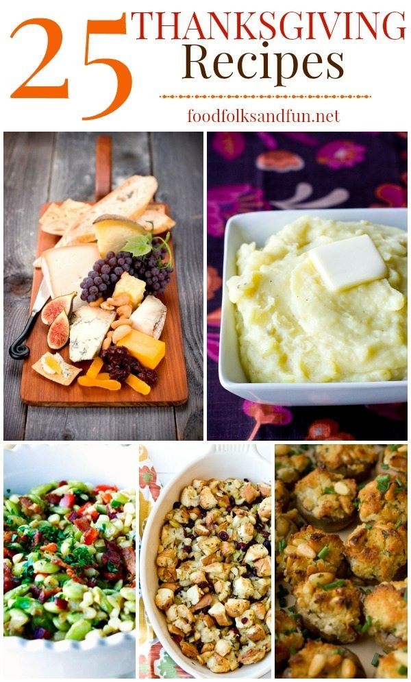 25 Thanksgiving Recipes for your Turkey Day Feast #EverythingButTheTurkey