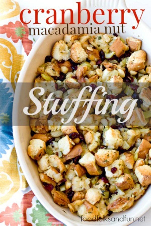 Cranberry Macadamia Nut Stuffing