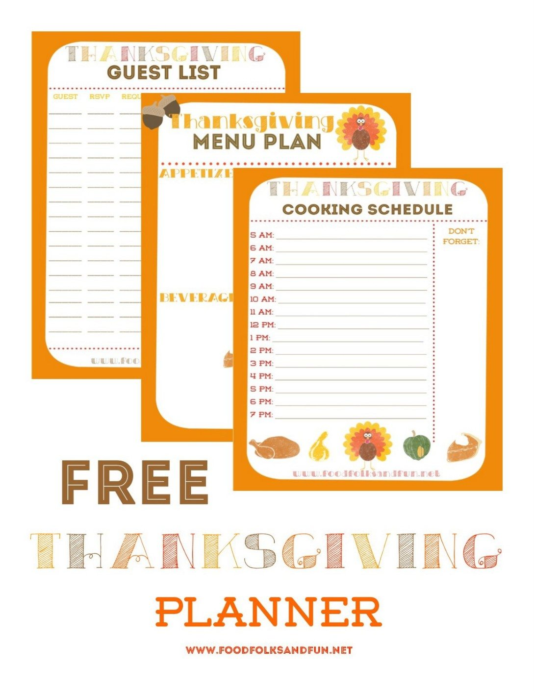 Thanksgiving Planner – 5 FREE Printables! #EverythingButTheTurkey
