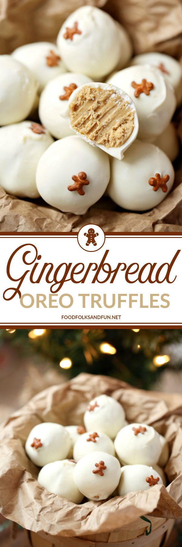 These Gingerbread OREO Truffles are easy holiday treats that are great for Christmas parties, cookie exchanges, and gifting! Picture tutorial and recipe video included! These have been shared over 70,000 times! via @foodfolksandfun