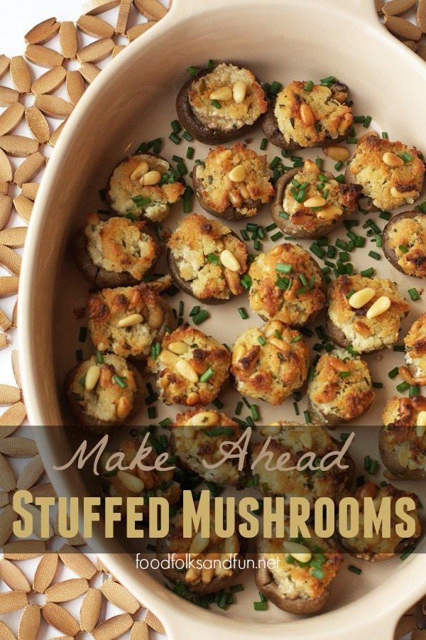 Make Ahead Stuffed Mushrooms with Goat Cheese
