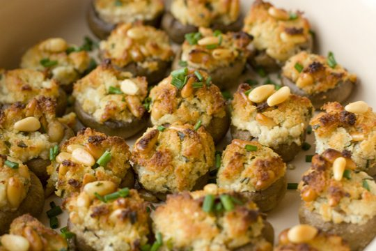 Make Ahead Stuffed Mushrooms